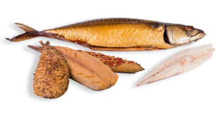Freshly smoked fish